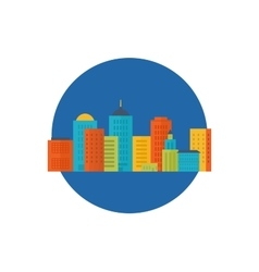 Icons set of urban landscape vector