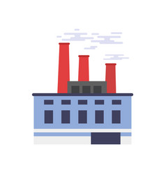 industrial building power or chemical plant vector image vector image