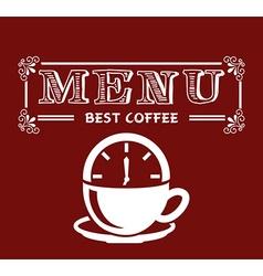 Menu good coffee vector