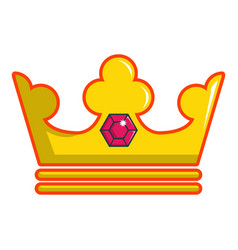Milady crown icon cartoon style vector