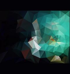 Polygon background black green vector