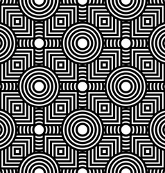 Seamless black and white geometric pattern simple vector image vector image