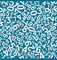 seamless pattern numbers vector image