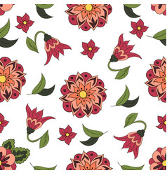 Seamless pattern with spring flowers cover vector