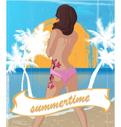 summertime vector image