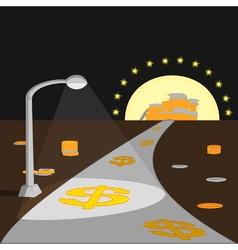 way to make money vector image vector image