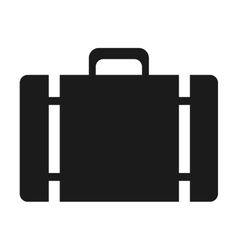 suitcase baggage luggage design vector image