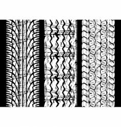 Rough tire tread vector