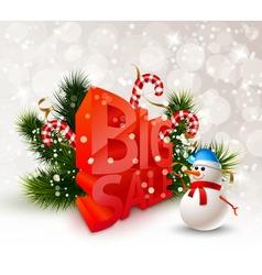 Festive Winter Big Sale Poster vector image