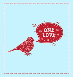 Birds one love vector