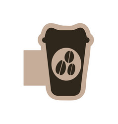 Contour emblem coffee espresso icon vector