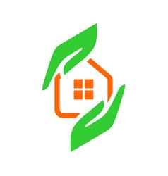 Real estate logo template vector