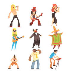 Musicians and singers of different music styles vector