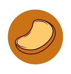 Delicious bread toast icon vector