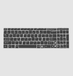keyboard mockup for laptop vector image