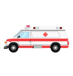 Ambulance colorful mean of transportation isolated vector