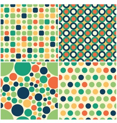 Seamless circular pattern vector