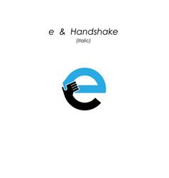Creative e- letter icon abstract logo design vector