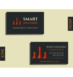 Business and management consulting visiting card vector