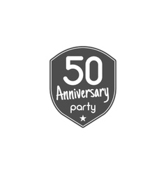 50 years anniversary badge sign and emblem with vector