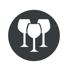 Monochrome round wine glass icon vector