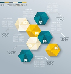 Modern infographics set with hexagonal abstract 3d vector