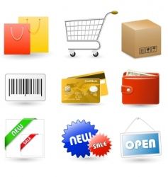 shop set vector image
