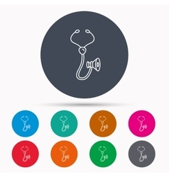 Stethoscope icon medical doctor equipment vector