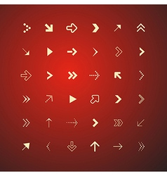 Abstract Arrows Set on Red Background vector image vector image