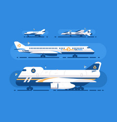 aircraft types set vector image vector image