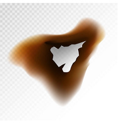 brown burnt blot vector image vector image