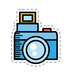Cartoon photo camera picture image vector