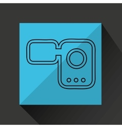 cinema film roll vector image vector image