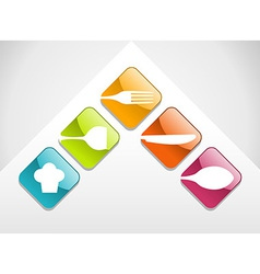 Colorful gourmet icons set vector image vector image