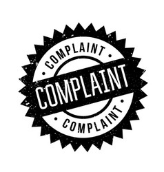 Complaint rubber stamp vector