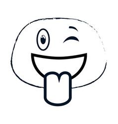 Crazy face emogi character vector