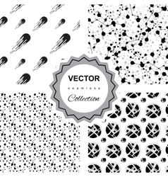 Ddoodle abstract seamless pattern collection vector