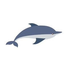 Dolphin cute animal sea little icon vector