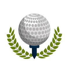Emblem play golf icon vector