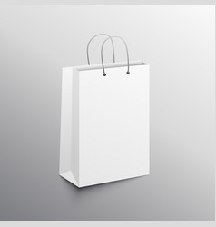 Empty shopping bag mockup design template vector