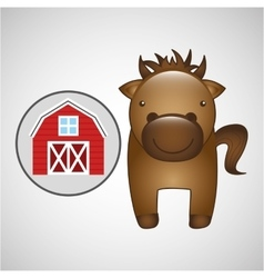 farm countryside animal design vector image vector image