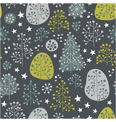 First Frost - seamless pattern vector image