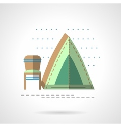 Fishing tent flat color design icon vector image vector image