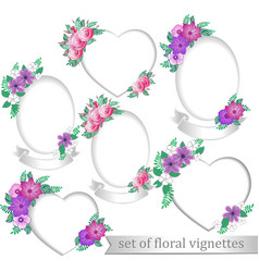 frames with flowers vector image