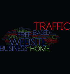 Free home based business website traffic text vector