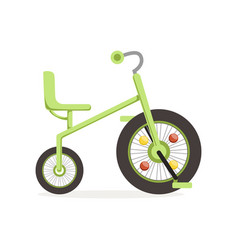green tricycle for children kids bicycle vector image