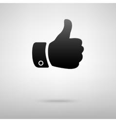 Hand black icon vector image vector image