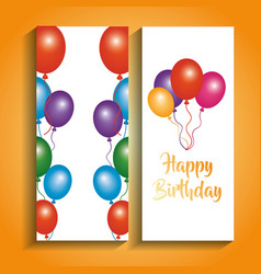 Happy birthday banners greeting celebration vector