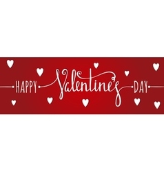 Happy Valentines day inscription vector image vector image