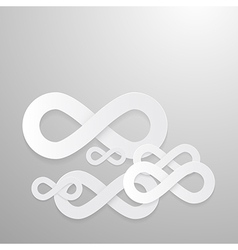 Paper Infinity Symbols Background vector image vector image